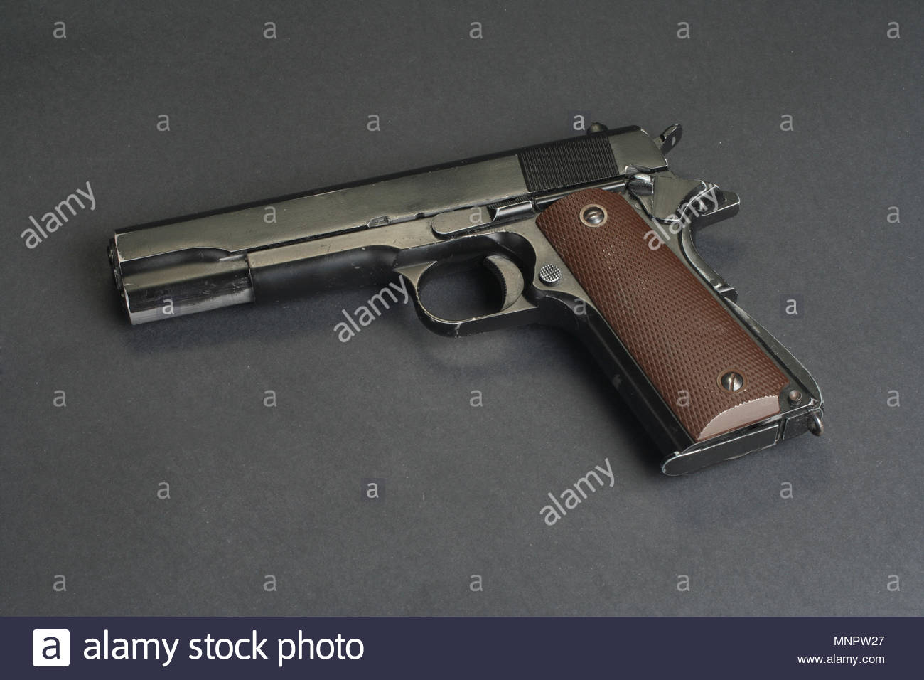 colt goverment M1911 on black background Stock Photo 185514063 1300x956