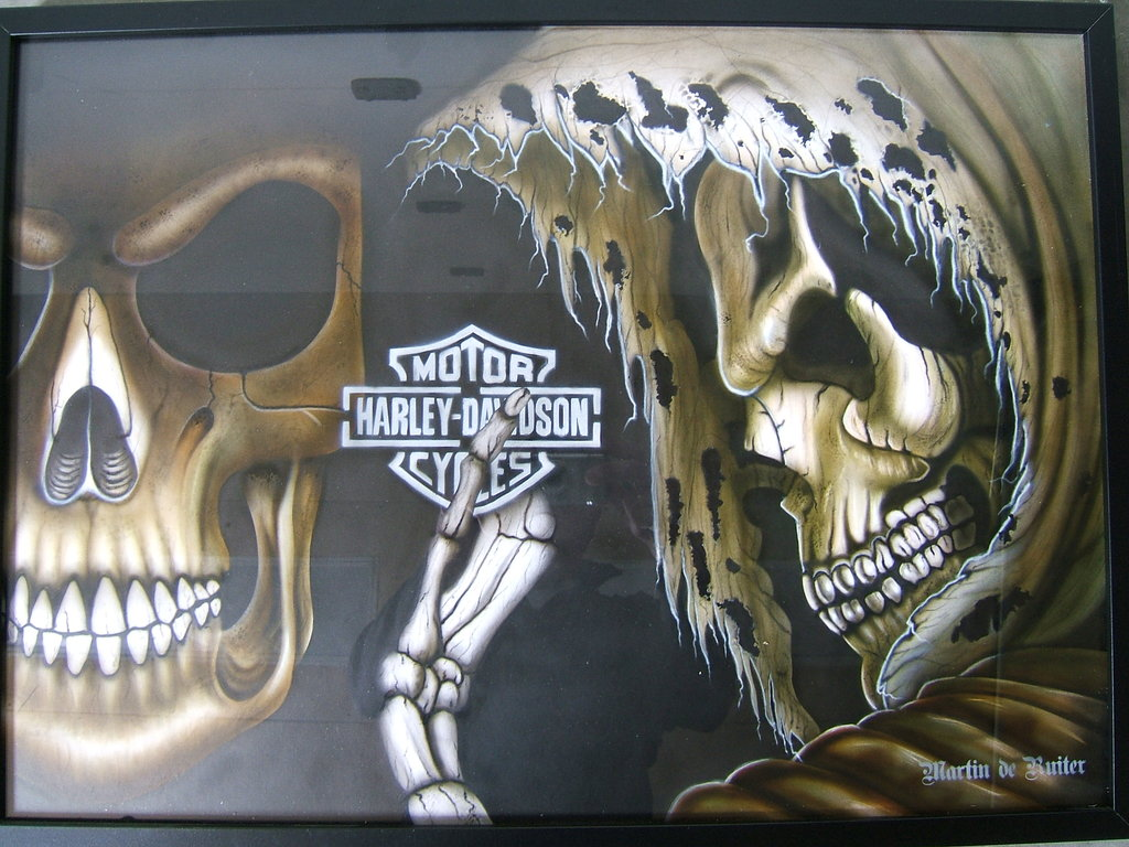 Harley Davidson Skull Wallpaper Harley Davidson Skulls by 1024x768