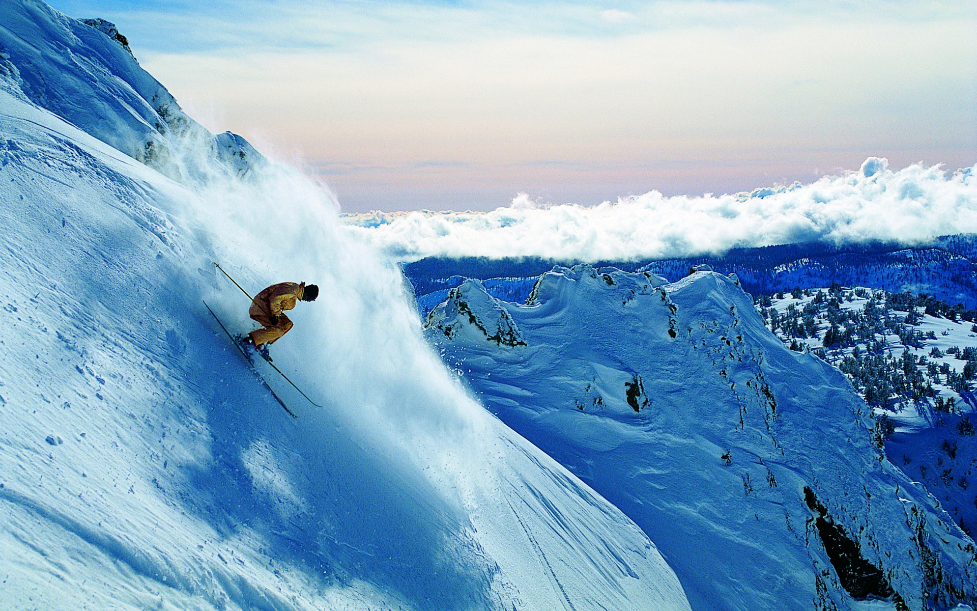 Extreme Wallpaper 1920x1080: Extreme Skiing Wallpaper