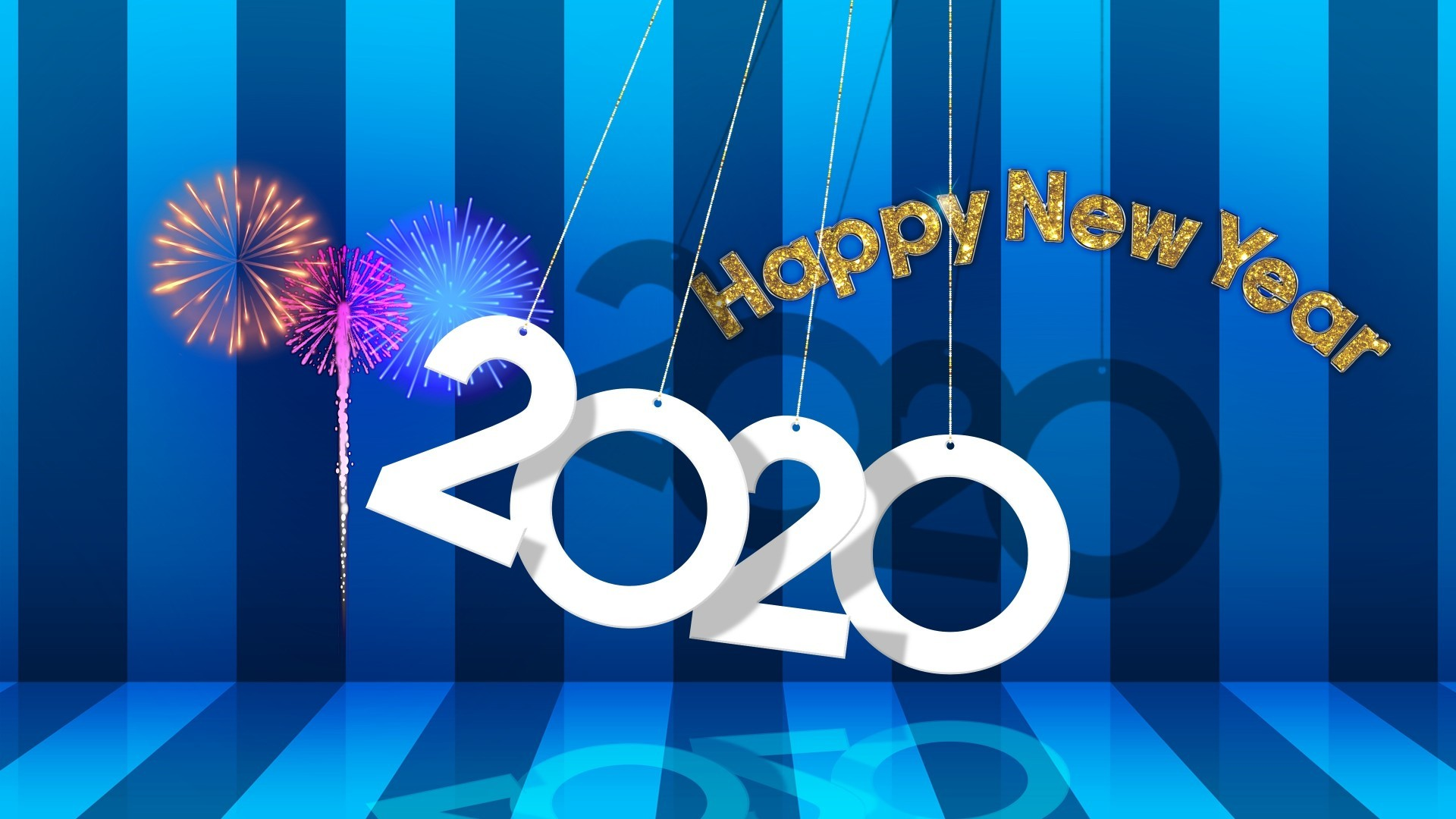 Download 1920x1080 Happy New Year 2020 Design Wallpapers for 1920x1080