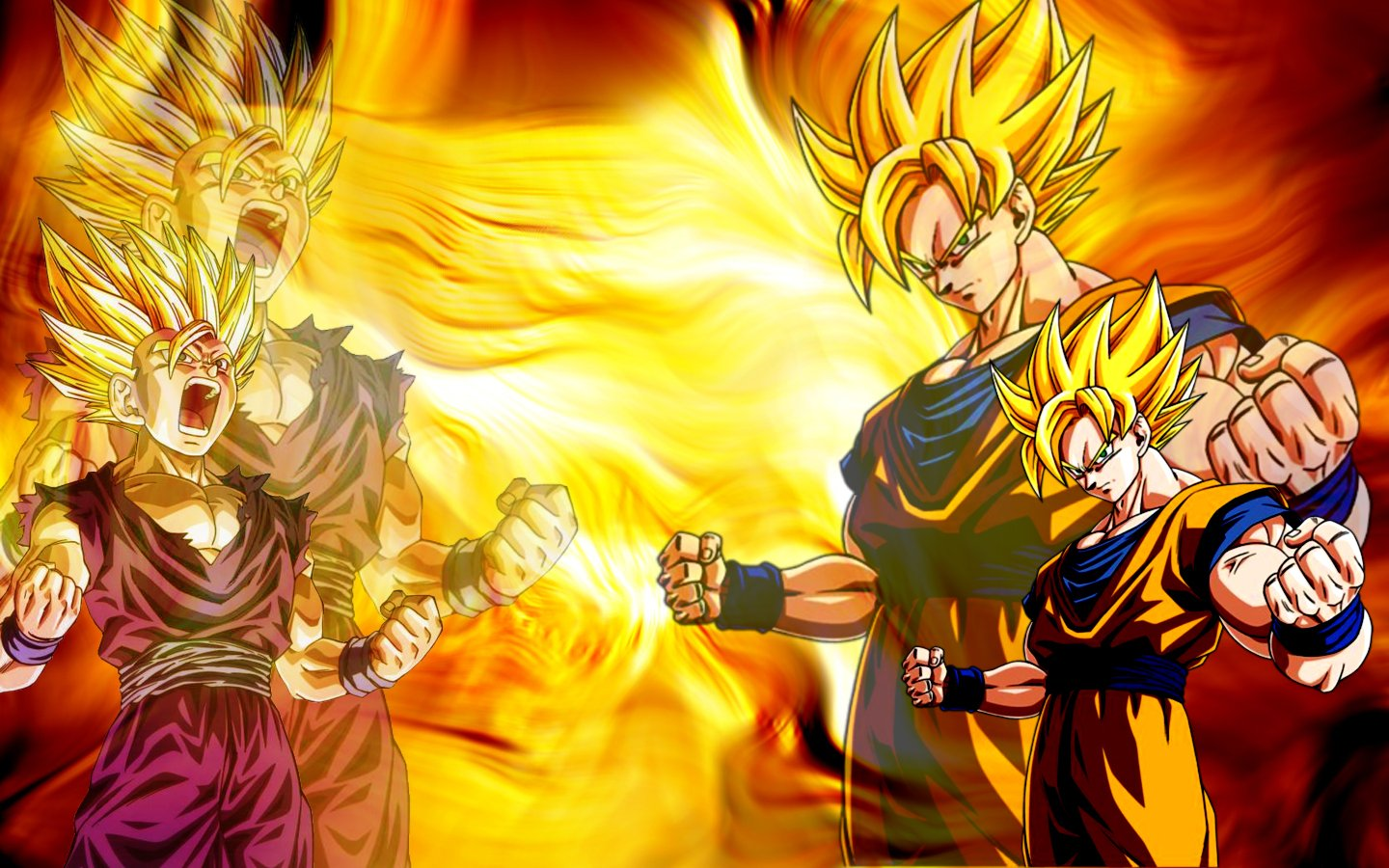 Dragon Ball Z Goku Gohan Wallpaper 1440x900