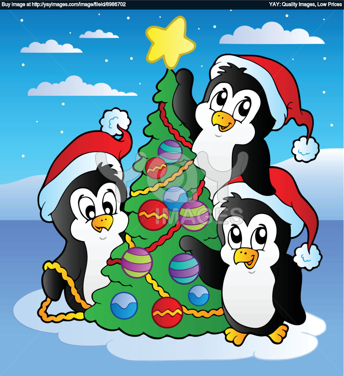 Christmas Penguin Wallpaper - WallpaperSafari