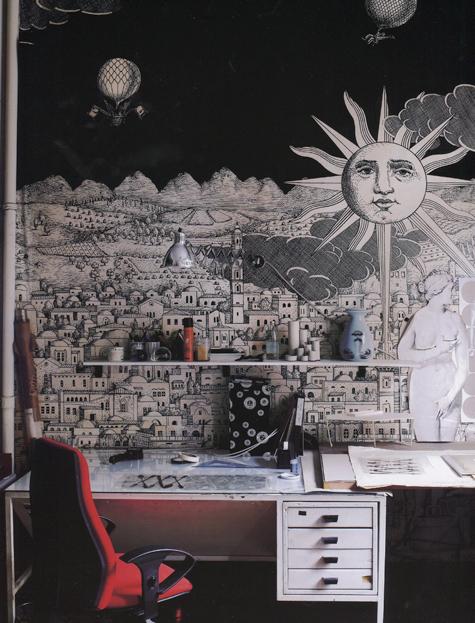 Piero Fornasetti Wallpaper Home