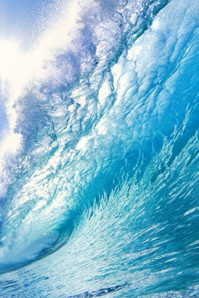 49 Ocean Wave Iphone Wallpaper On Wallpapersafari