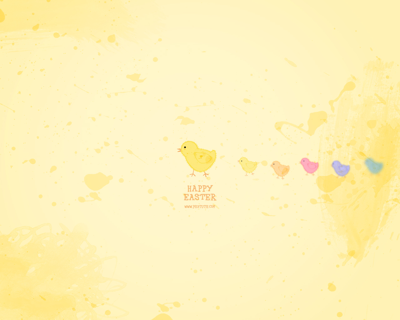 Super Cute Easter Wallpaper Illustration Tutorial 1280x1024