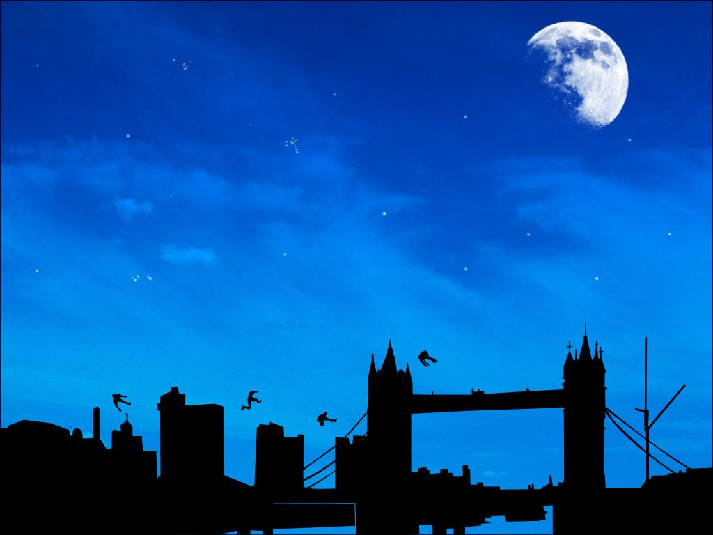 Parkour Over London by cstm 1024x768