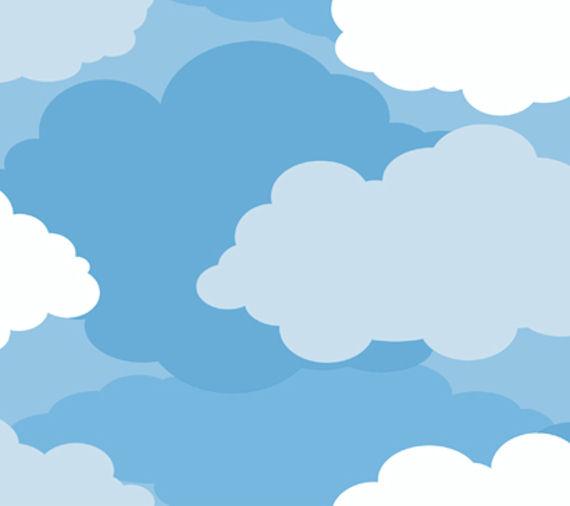 Dark Blue Cloud Sidewall Wallpaper   Wall Sticker Outlet 570x506