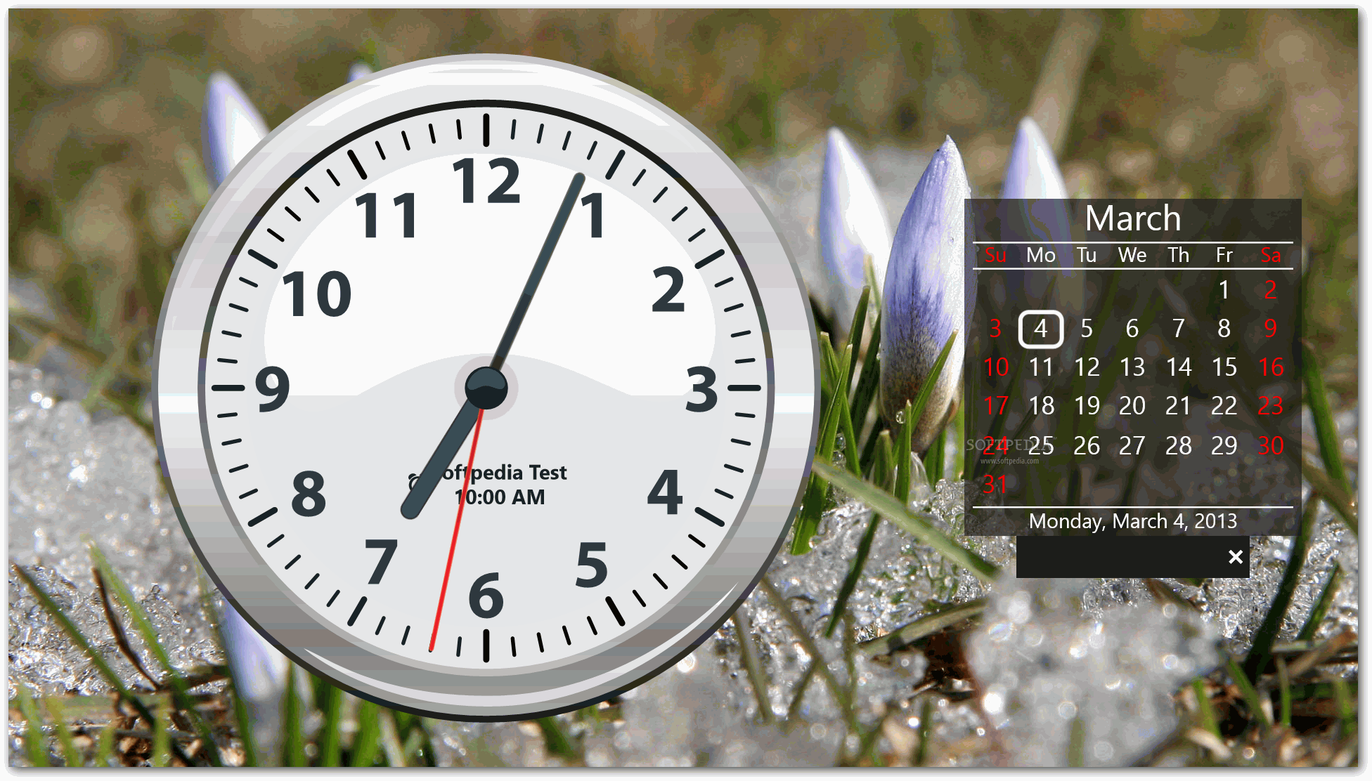 Windows 10 Wallpaper with Clock