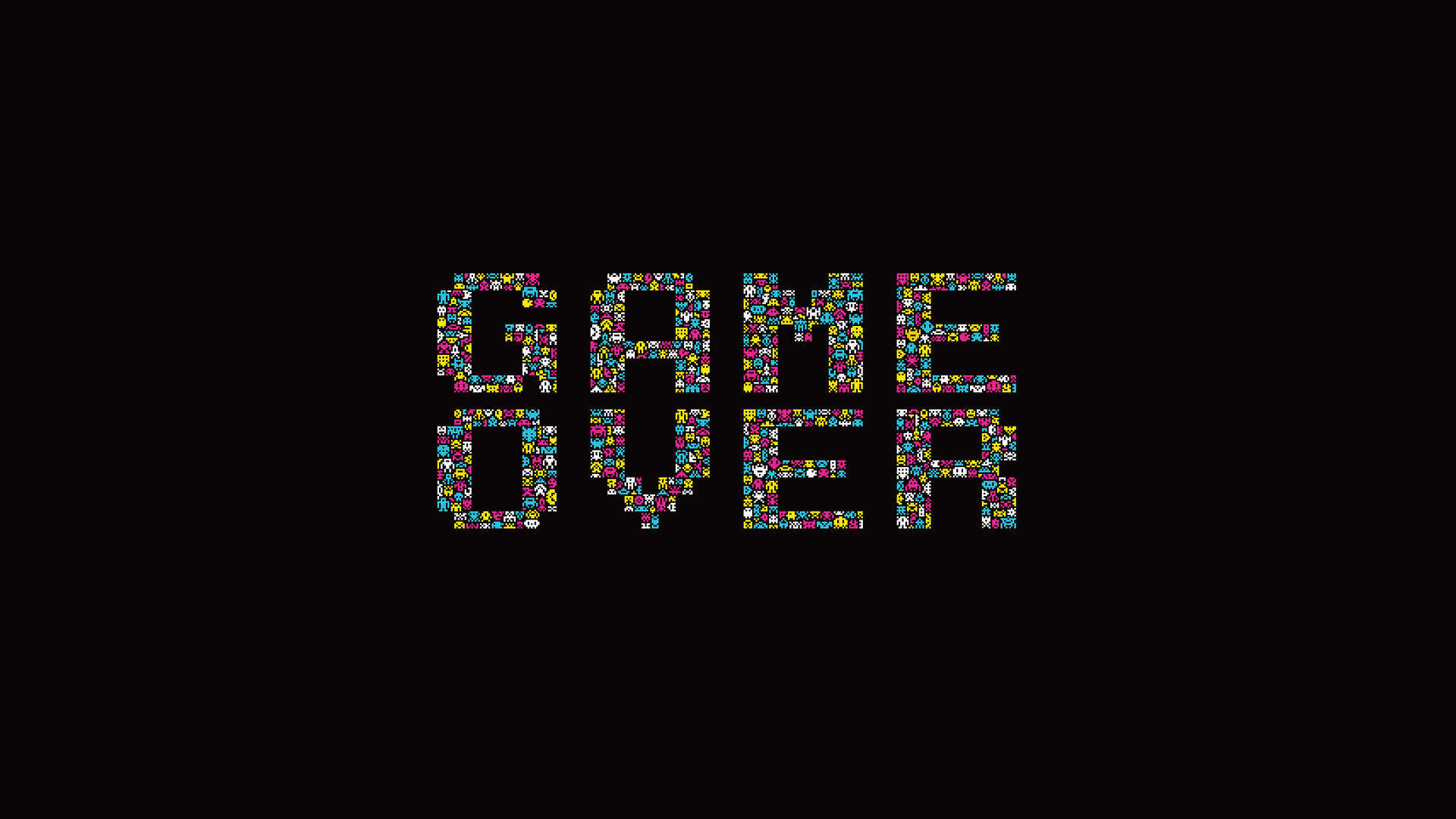 Game Over Text Retro Game Wallpaper HD jpg 268551 1920x1080