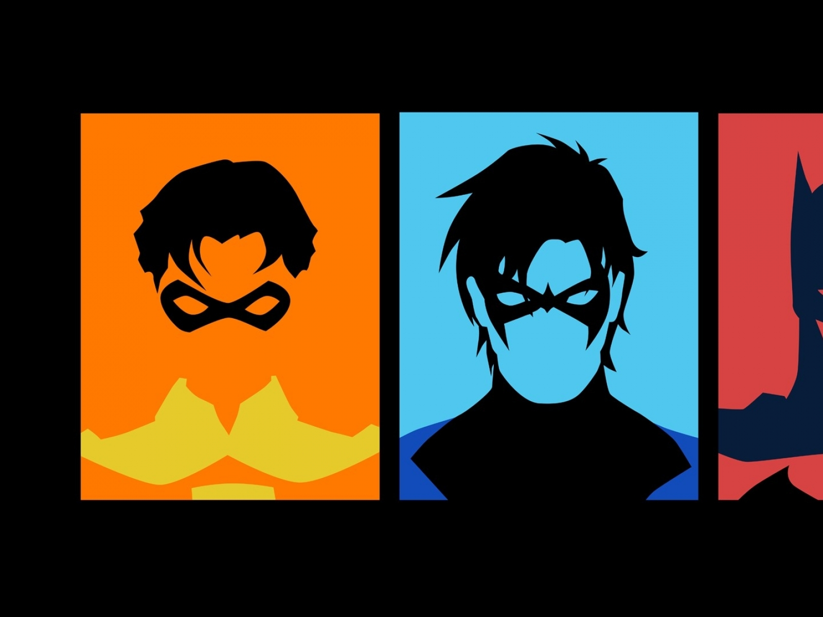 batman robin dc comics nightwing 1920x1080 wallpaper Art HD Wallpaper 1600x1200