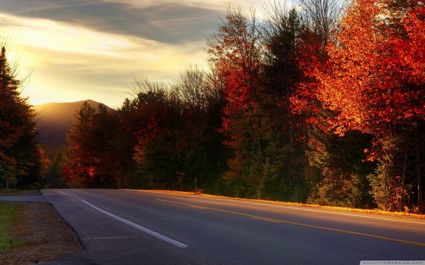 Road In New Hampshire 4K HD Desktop Wallpaper for 4K Ultra HD 1440x900