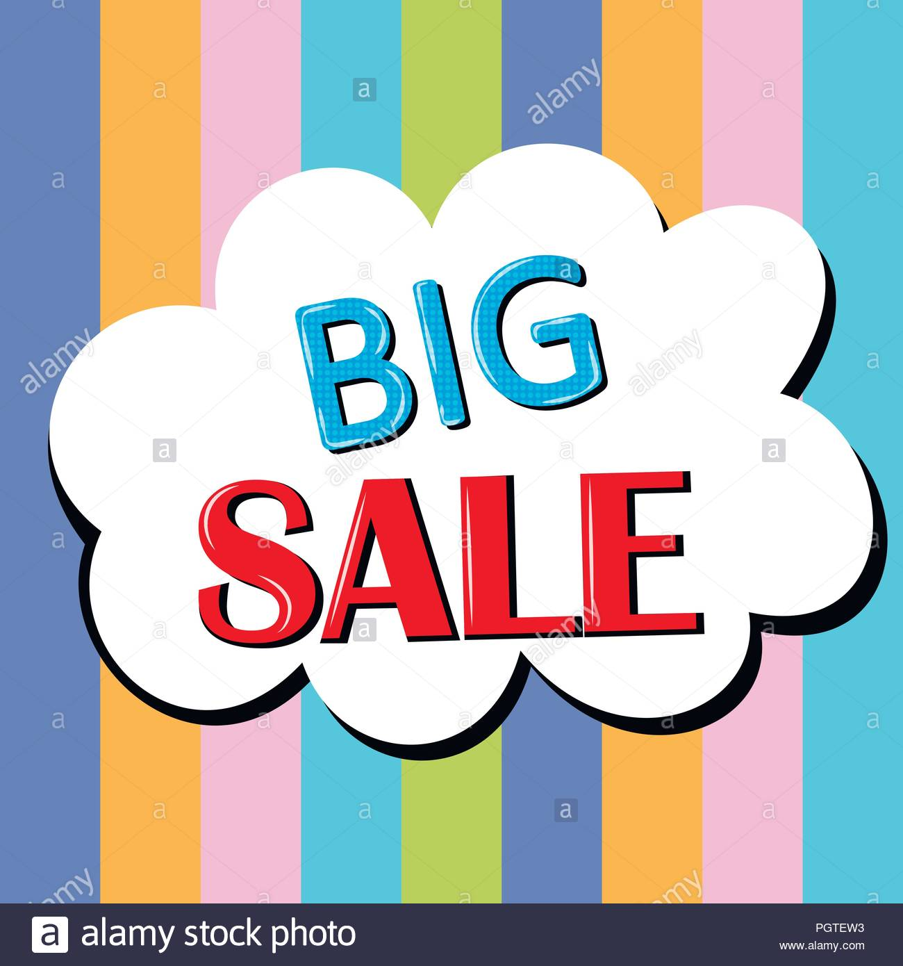 Big sale banner signboard decor for the store Special offer 1300x1390
