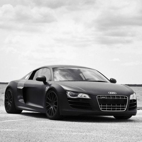 Matte Black Audi R8 Wallpaper