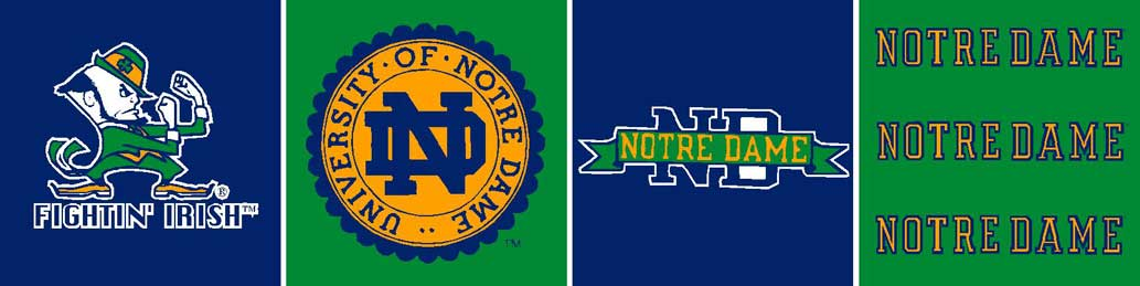 Notre Dame Fighting Irish 6 Tall Wallpaper Border 1033x259