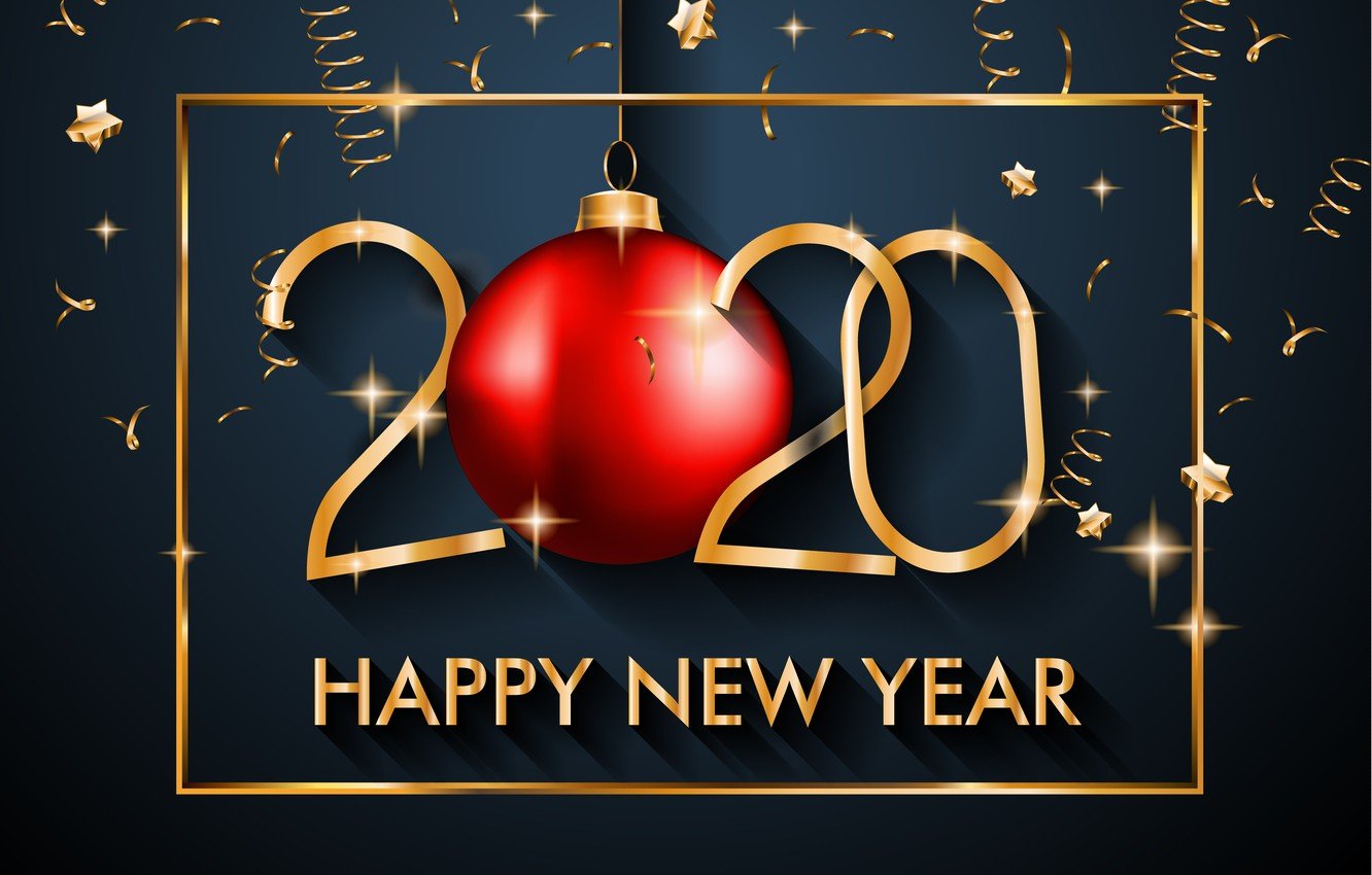 Wallpaper New year golden black background happy black 1332x850