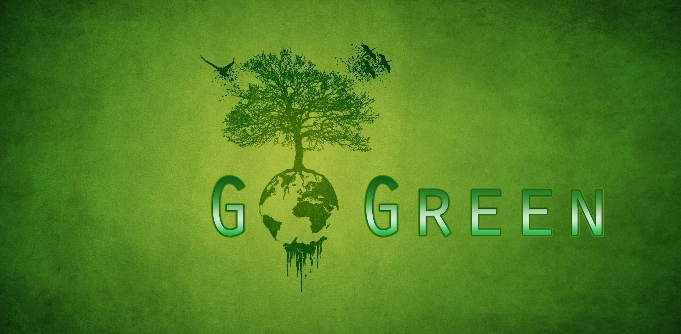 Go Green Wallpaper 2202x1080