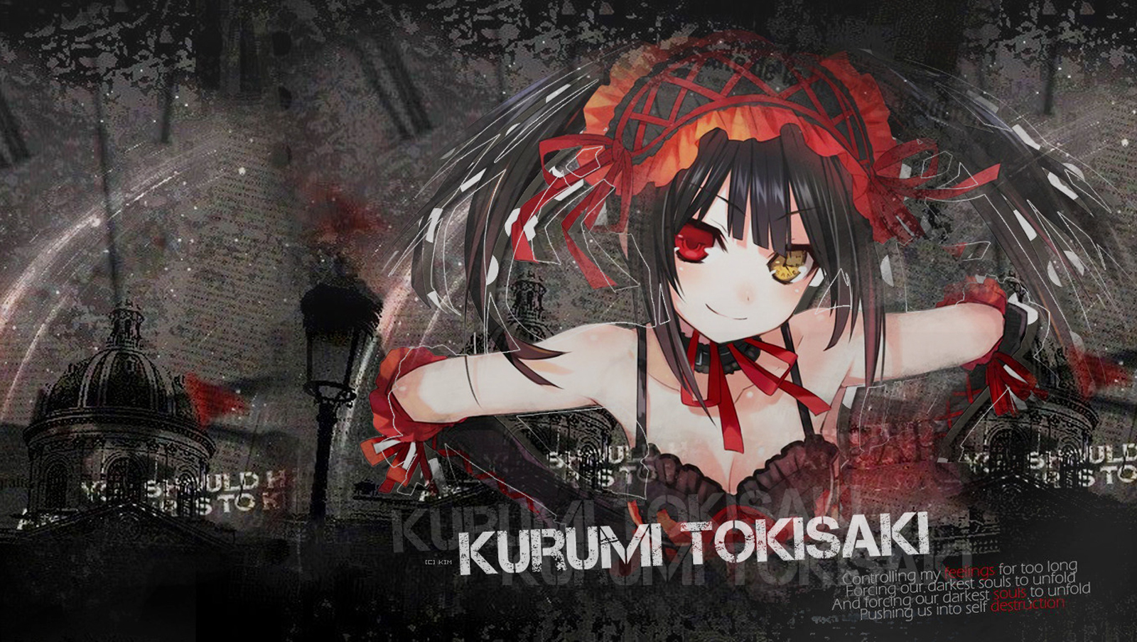Tokisaki Kurumi Date A Live Anime HD Wallpaper Desktop PC Background 1600x904
