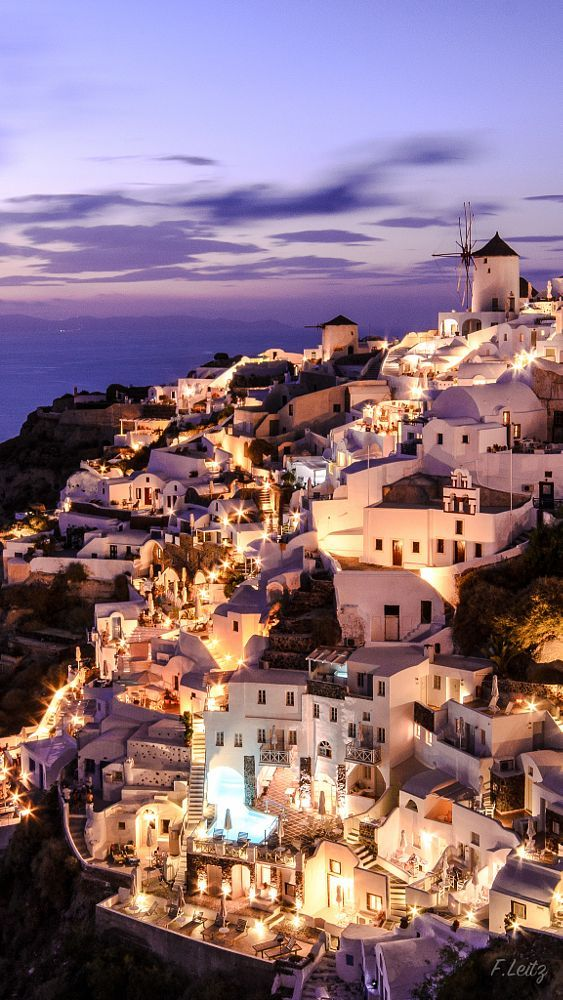 Oia by night Santorini santorini in 2019 Santorini Greece 563x1000