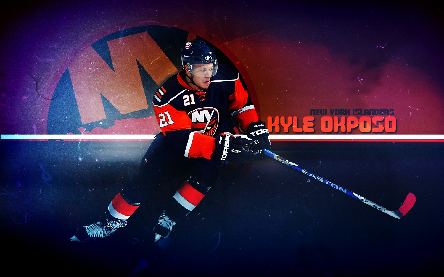 hockey Kyle Okposo New York Islanders wallpaper background 1500x937