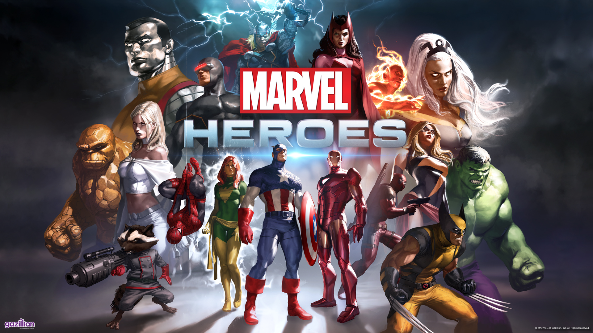 Epic Marvel Heroes Wallpapers   SlotsMarvel 1920x1080
