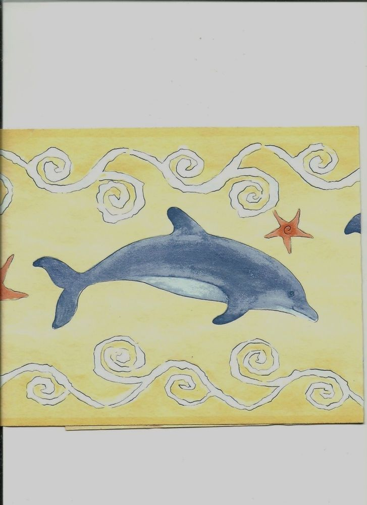 Dolphins Playing in The Ocean Wallpaper Border 00583B eBay 727x1000