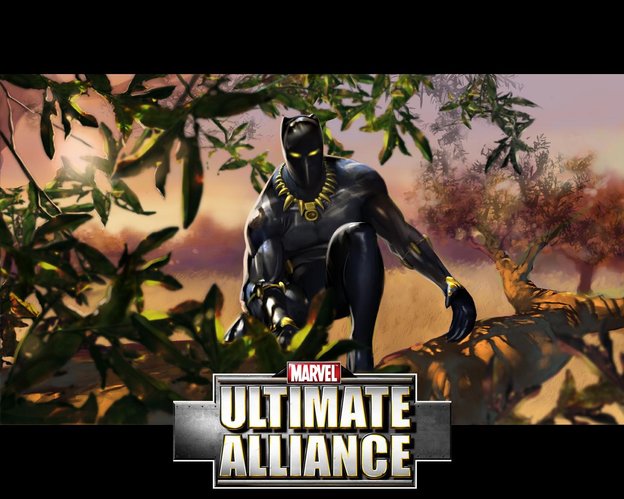 black panther marvel ultimate alliance wallpaper black panther 1280x1024
