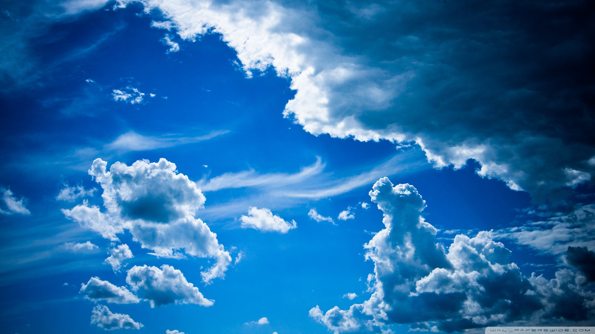 1920x1080px blue sky with clouds wallpaper - wallpapersafari