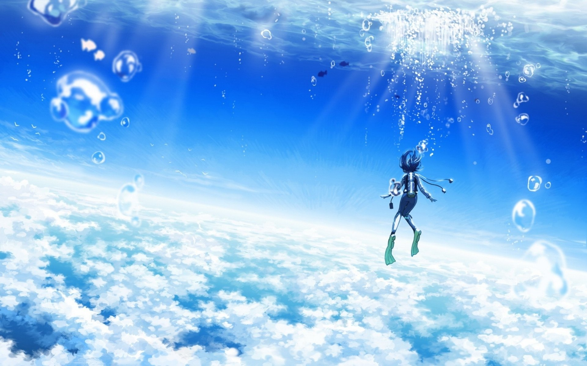 Free Download Maouki Images 45905 Anime Scenery Blue Sky Anime