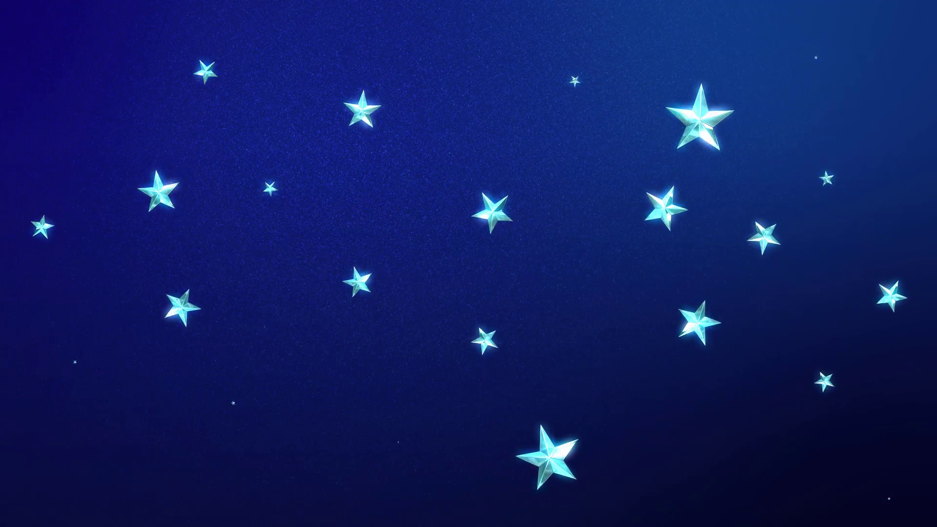 Looping Animation of Twinkling Stars on a Midnight Blue 1920x1080