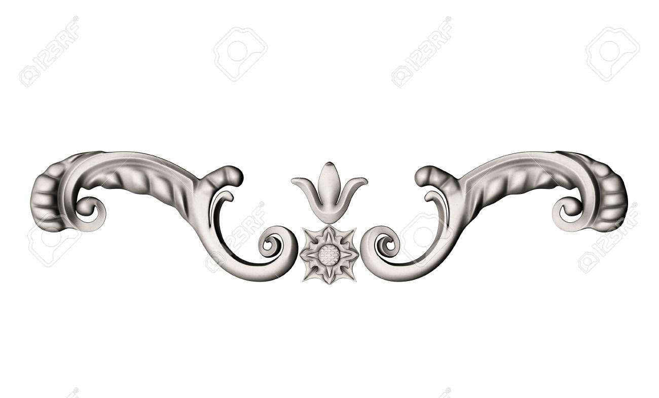 3d Set Of An Fretwork Details The Sculptural Form On A White 1300x786
