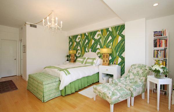 Tropical leaf wallpaper 600x386