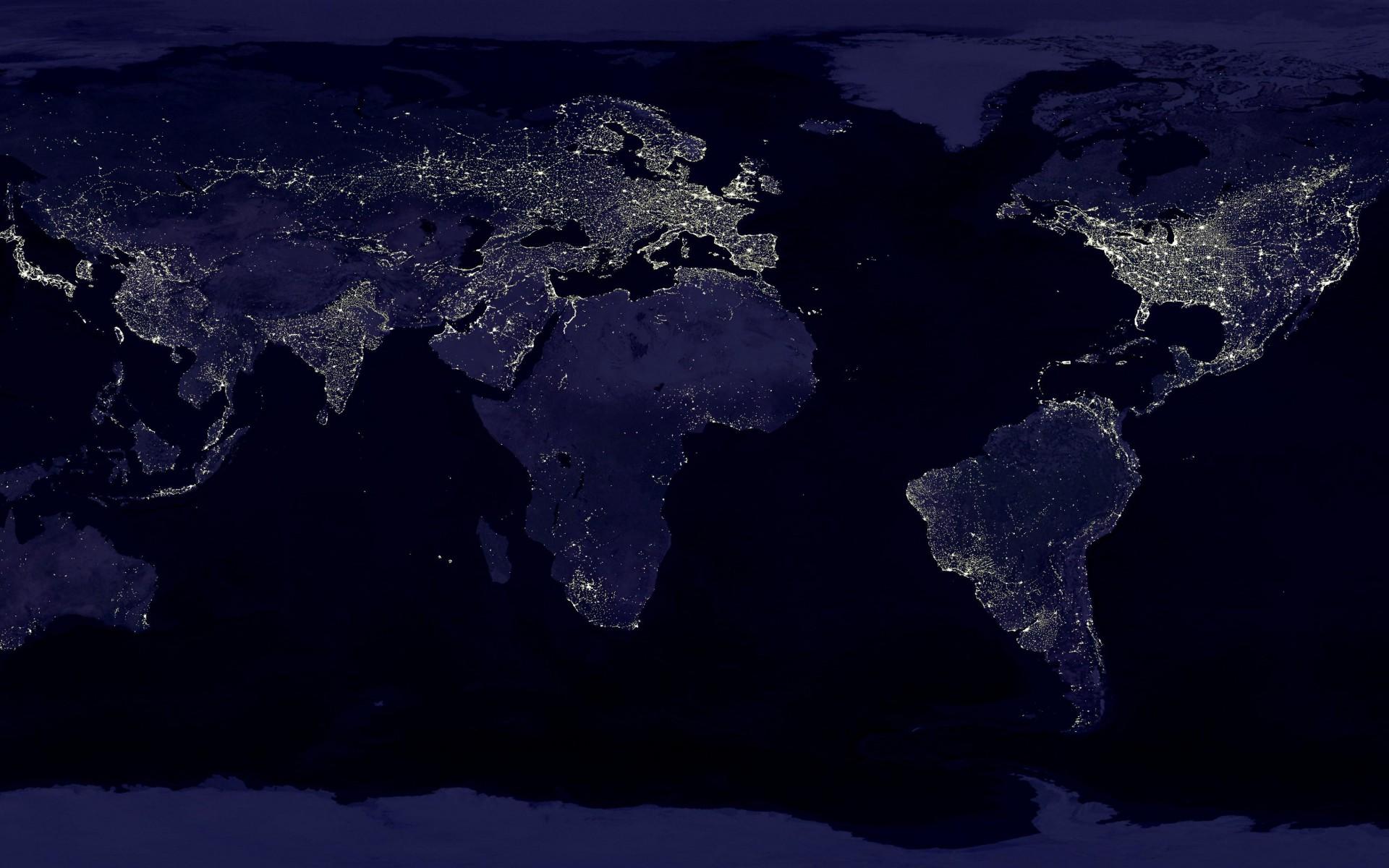 Earth at Night Wallpaper WallpaperSafari