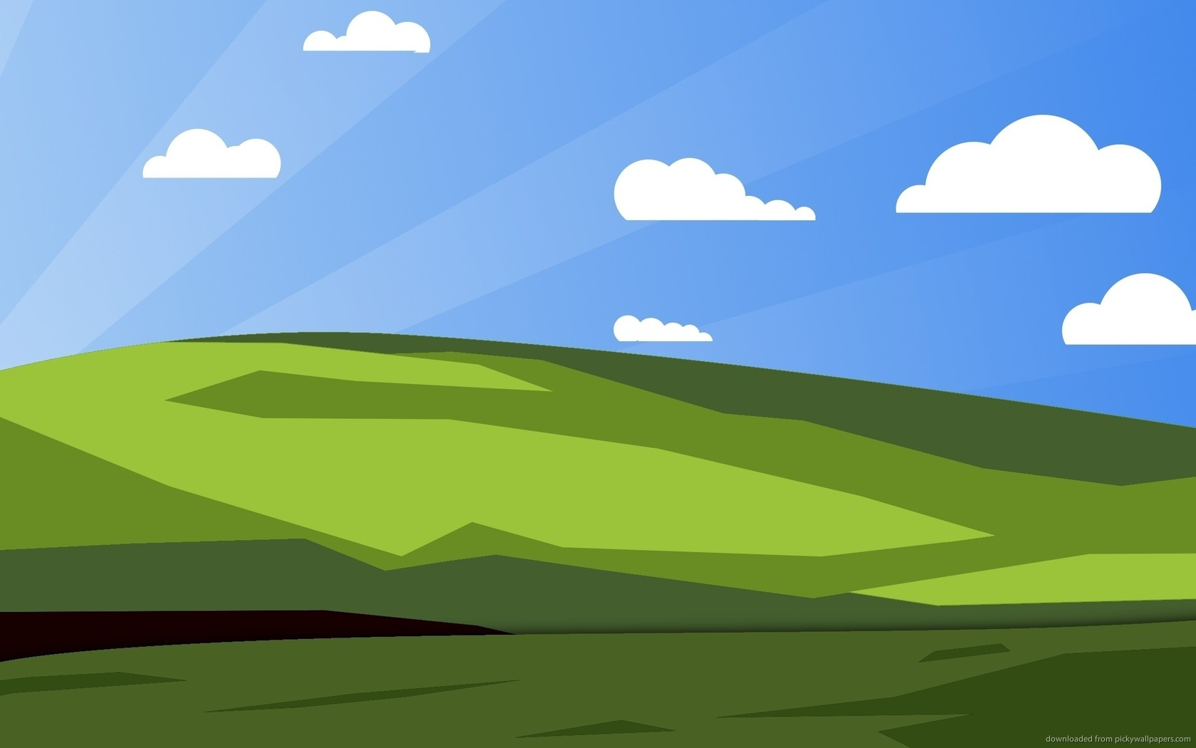 Download 1680x1050 Simplified Classic Windows Desktop Wallpaper 1680x1050