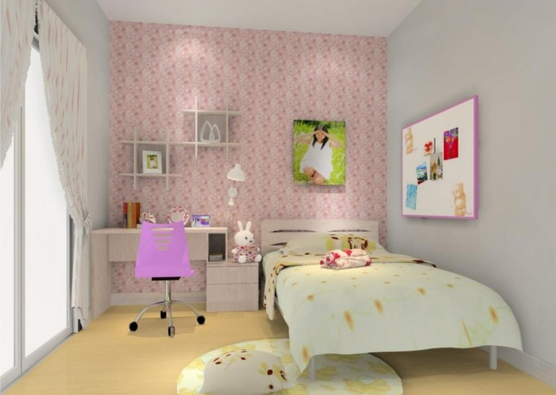 girls girls room house 3d pink girls room 3d view 1109x787