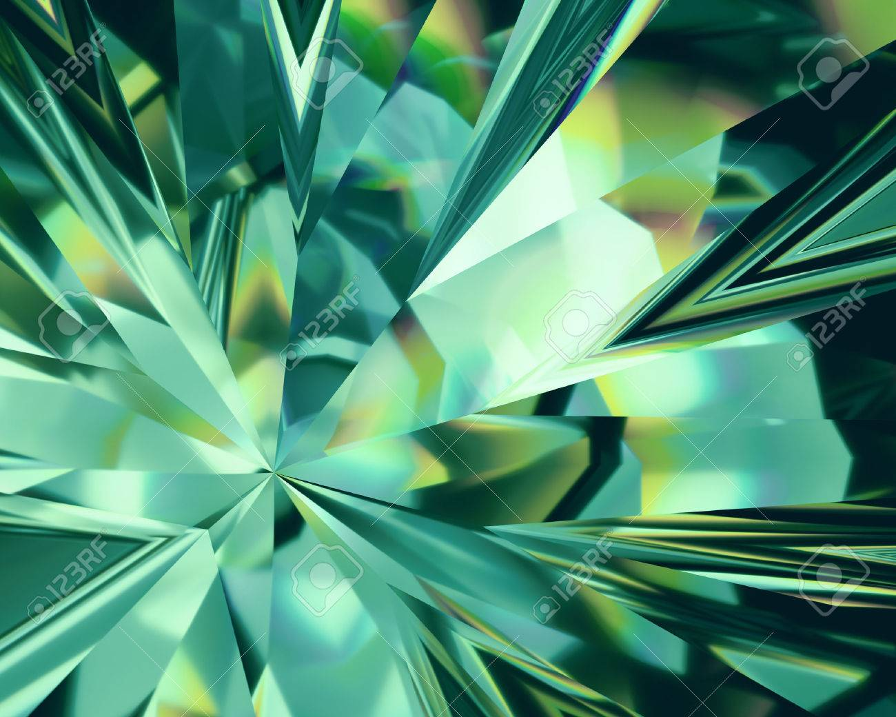3d Abstract Emerald Green Crystal Background Faceted Glass Stock 1300x1040