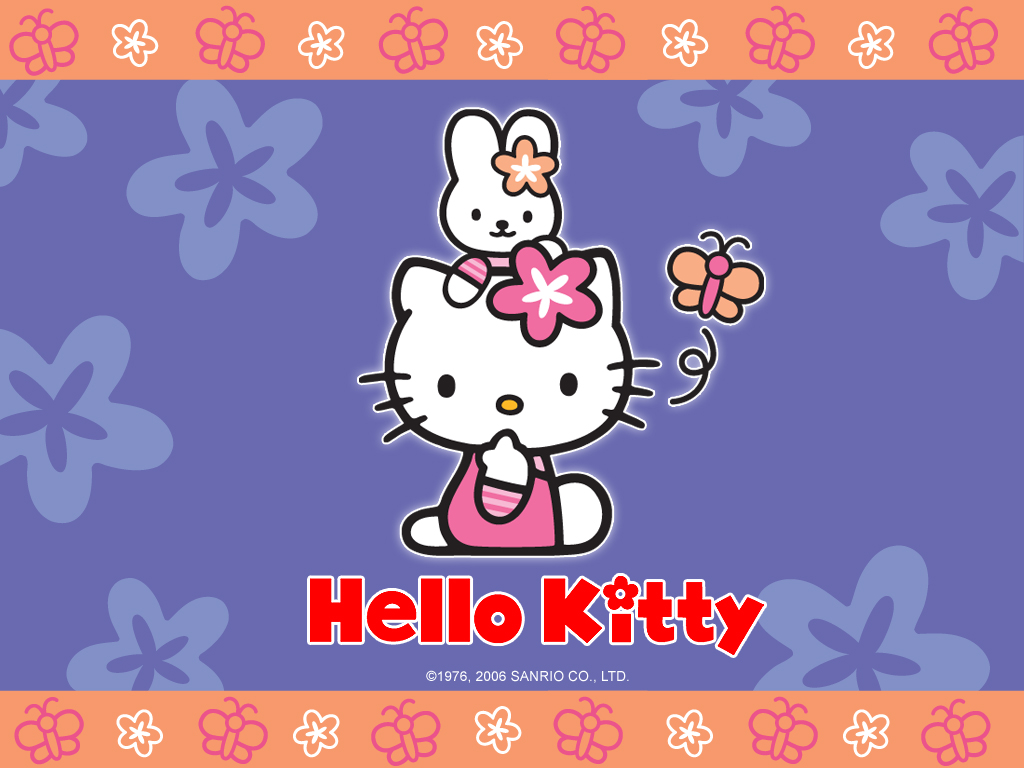 Free Download Hello Kitty Wallpaper With Flowers Kawaii Wallpapers