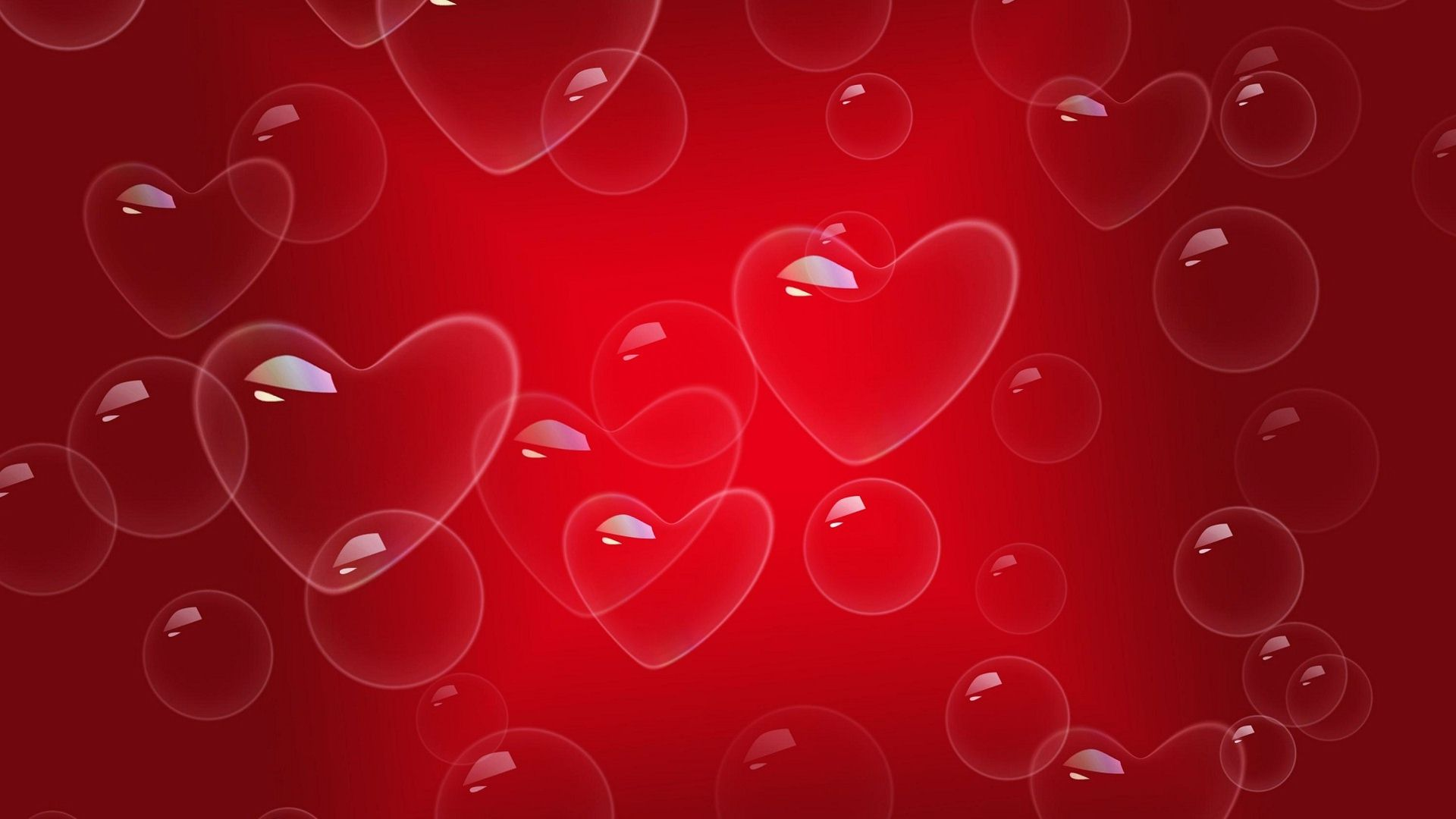 Red Love Heart Backgrounds 1920x1080