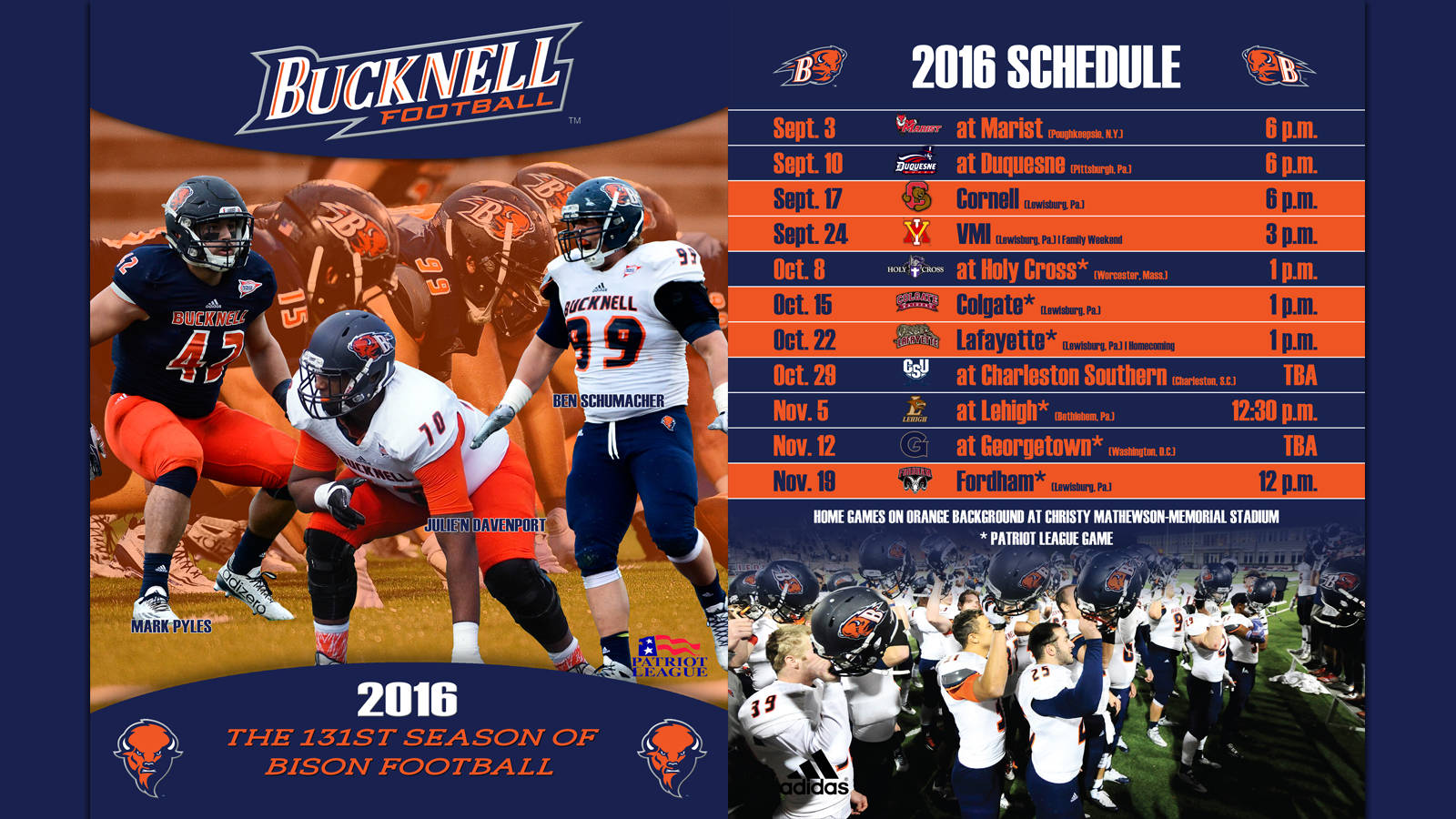2016 Football Guide   Bucknell University Athletics 1600x900