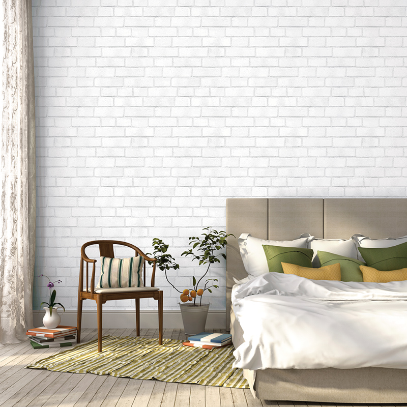 white brick removable wallpaper 2016   White Brick Wallpaper 800x800
