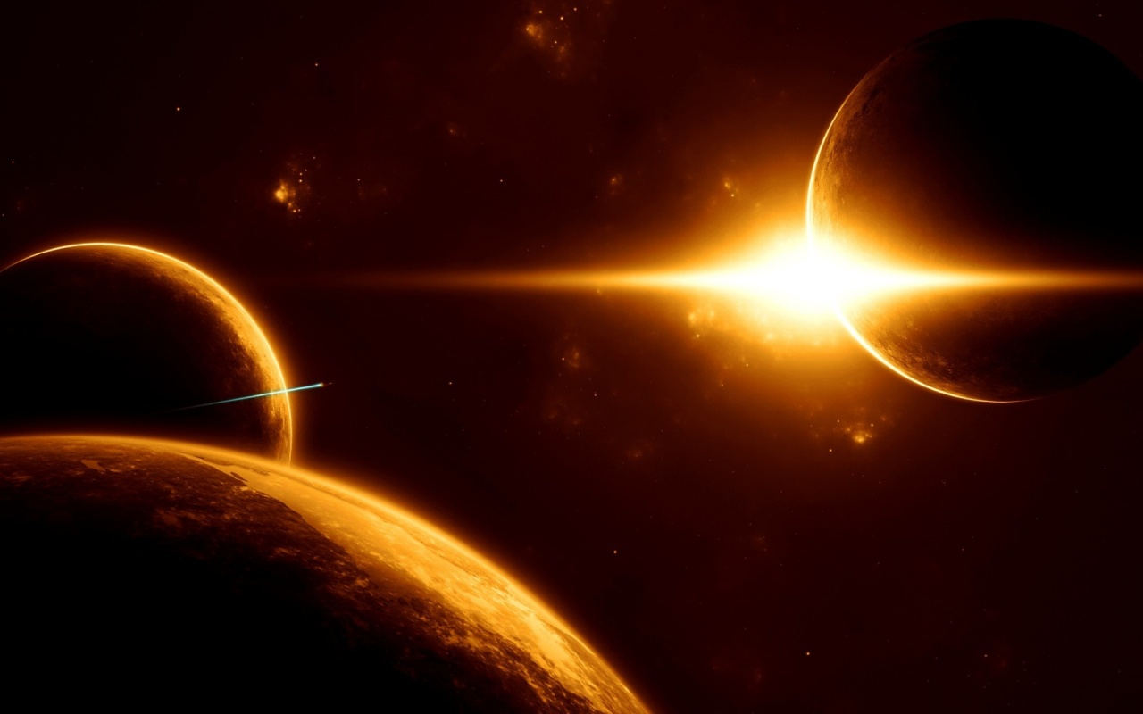 1280x800 Outer Space Sunrise desktop PC and Mac wallpaper 1280x800