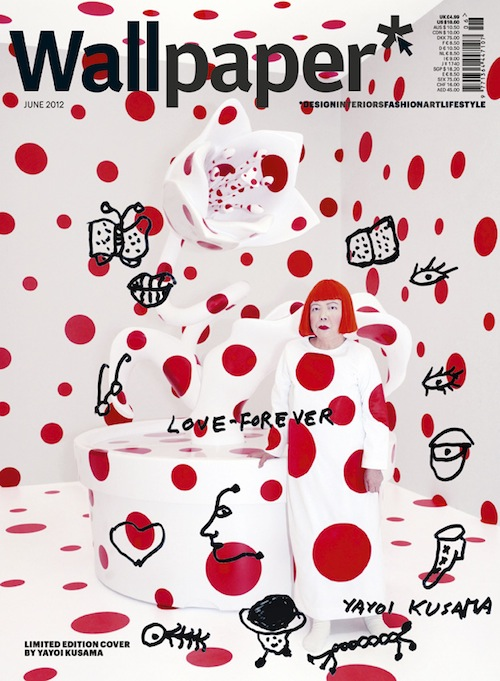 Yayoi Kusama covers June Wallpaper magazine   DisneyRollerGirl 500x681