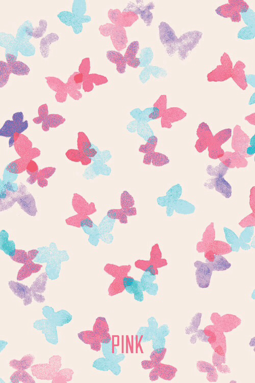 mixerlittlegirlButterfly Pink VS Wallpaper on We Heart It   http 500x750