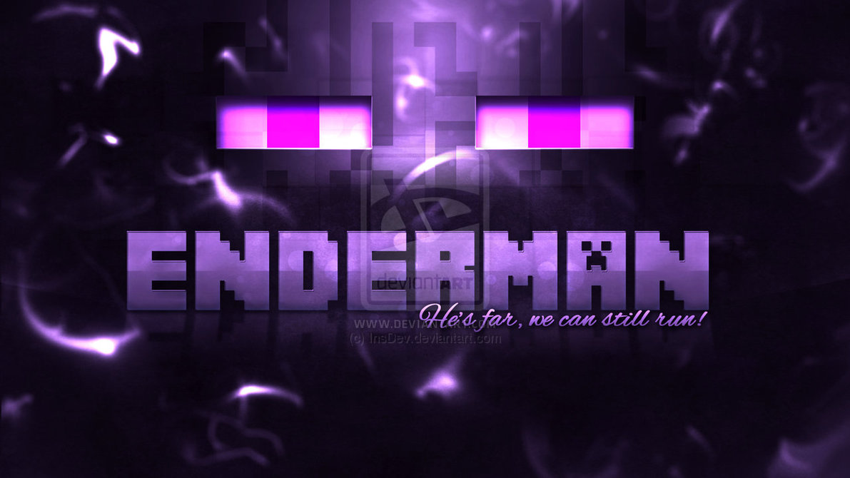 Enderman Minecraft Wallpaper HD by InsDev 1191x670