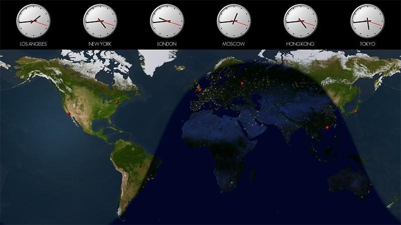 Solar World Clock Attractive World Clock And Time Zone Desktop 800x450