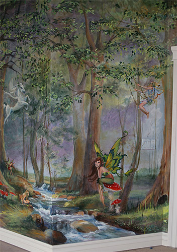 42 Enchanted Forest Wallpaper Mural On Wallpapersafari