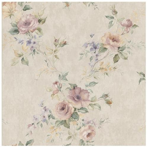 Kitchen and Bath Resource II Deeply Embossed Floral Trail Wallpaper 500x500