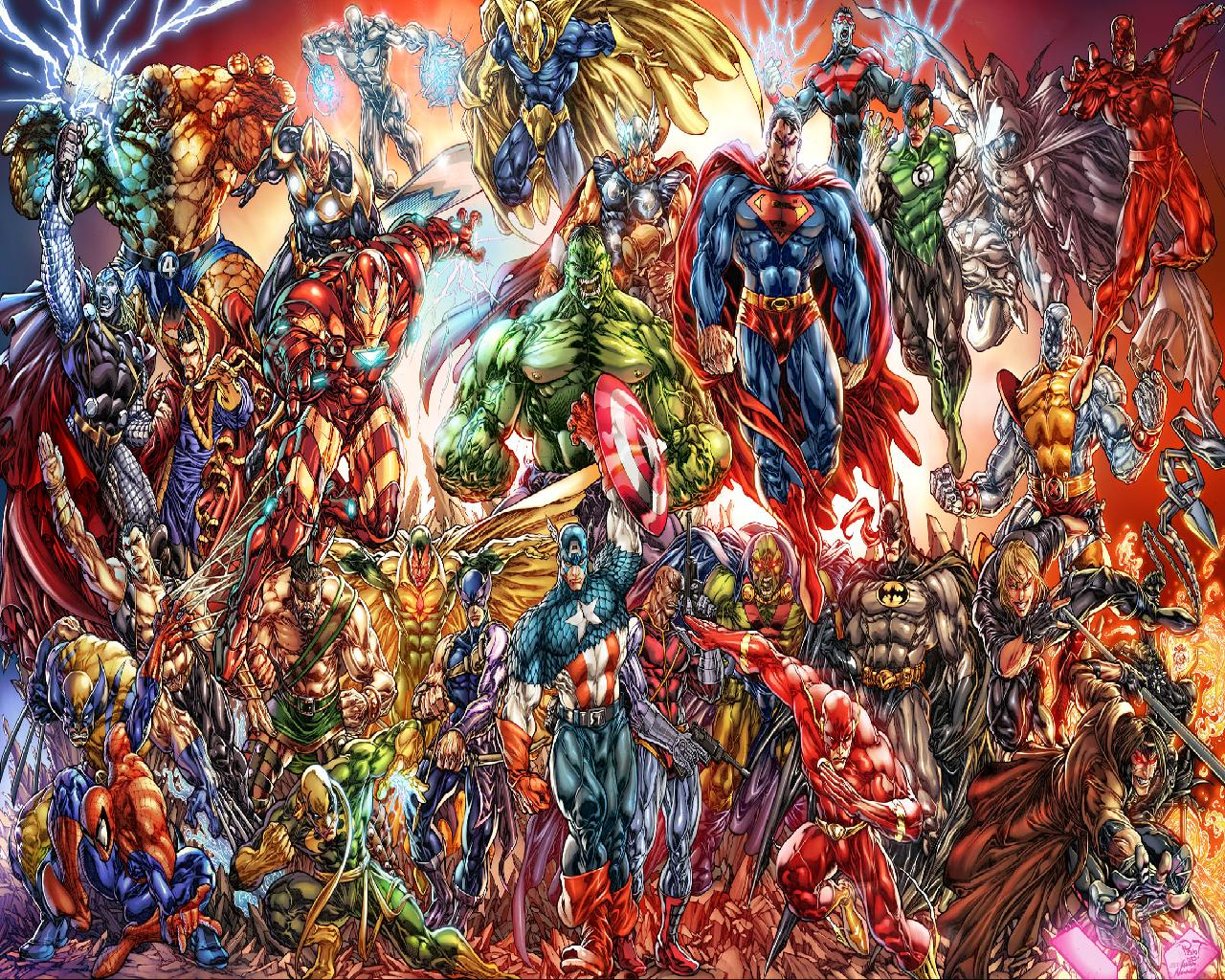 Marvel And DC Heroes wallpaper   ForWallpapercom 1280x1024