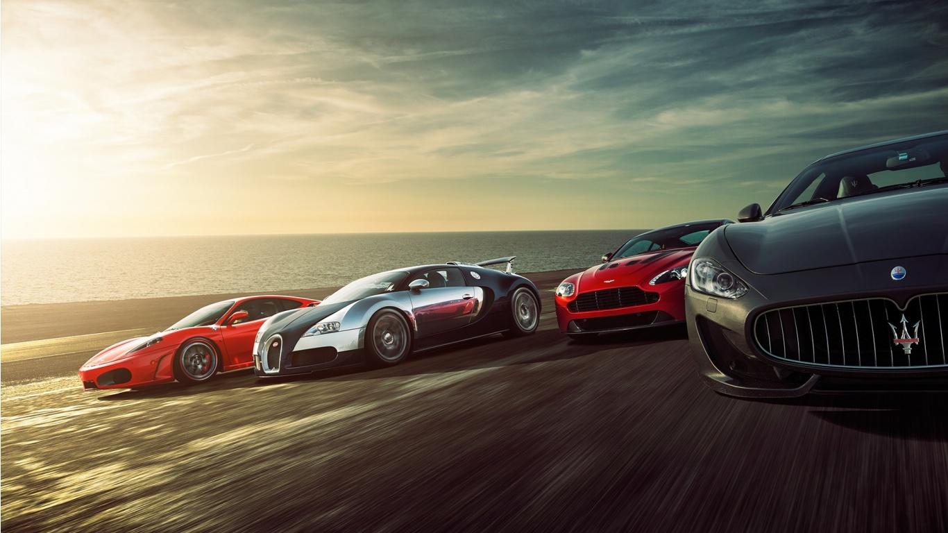 Super Sports Cars Wallpaper HD Car Wallpapers 1366x768