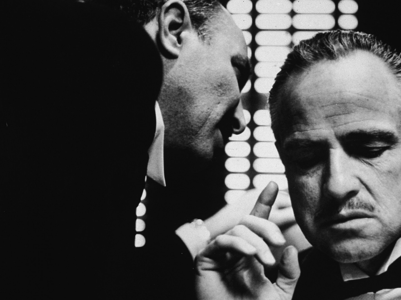 godfather monochrome vito corleone marlon brando 1920x1080 wallpaper 1280x960