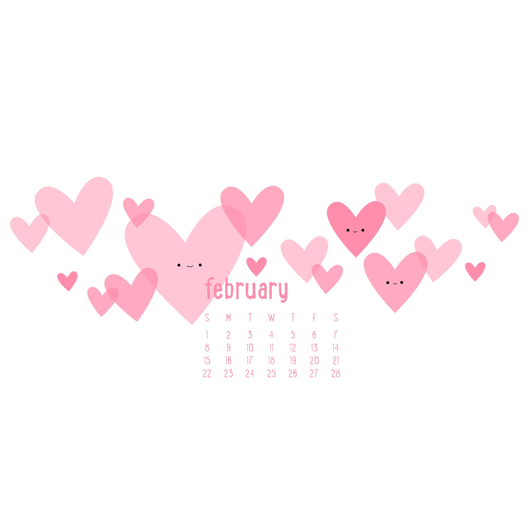 Wild Olive calendar i heart february 2208x2208